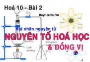 Điện tích hạt nhân, số khối, nguyên tử khối trung bình của nguyên tố hoá học - hoá 10 bài 2